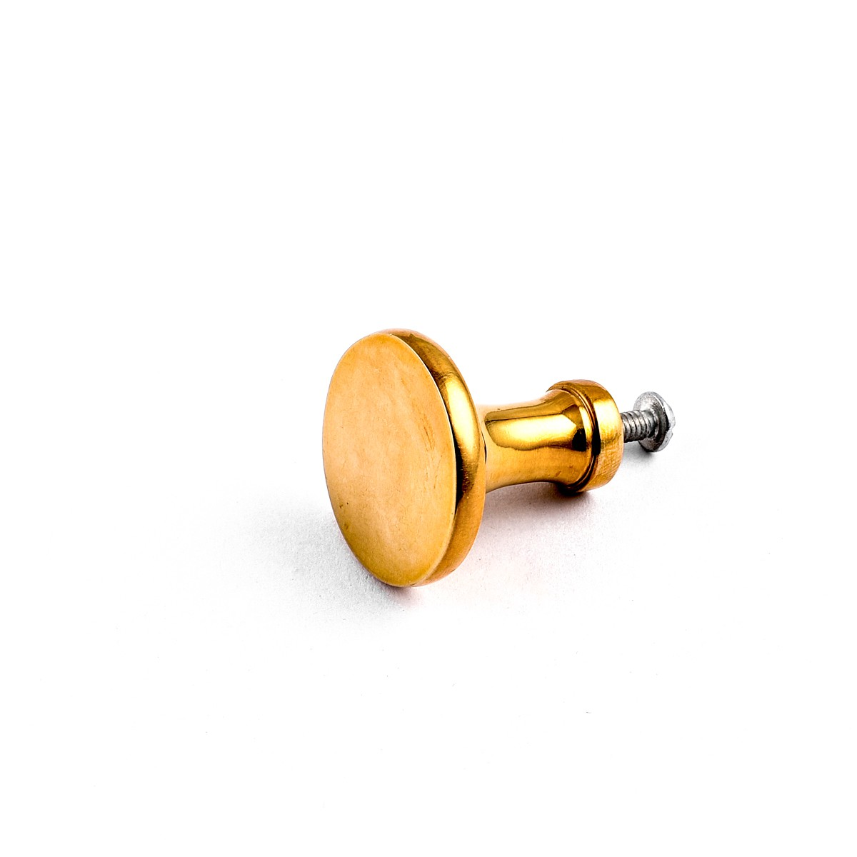 6 Cabinet Knob Bright Solid Brass Pedestal 1 14 Brass Kitchen Cabinet Hardware Pull Knobs Traditional Cabinetry remodel