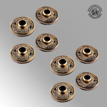 <PRE>Brass Door Rosette Pairs Antique Trim Plate Tarnish Resist Pack of 4</PRE>zoom2