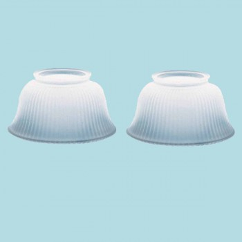 spec-<PRE>2 Lamp Shade White Glass Traditional 3 5/8&quot; H x 4&quot; Fitter </PRE>