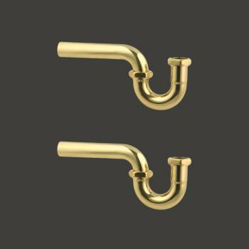 Bathroom Sink P Trap Bright Solid Brass 1 14 Heavy Duty Pack of 2 Sink Trap P Trap P Traps