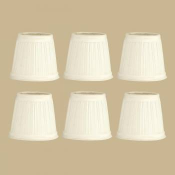 <PRE>6 Fabric Lamp Shade Eggshell 4 1/2inch Mini Drum Clip On 6 Pcs  Supp</PRE>zoom2