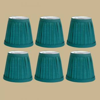 <PRE>6 Fabric Lamp Shade Hunter Green 4 1/16inch H Mini Clip On </PRE>zoom2