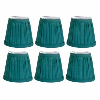 6 Fabric Lamp Shade Hunter Green 4 116 H Mini Clip On