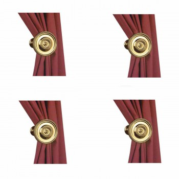 Curtain Tiebacks Solid Brass Tarnish Resistant Set of 4