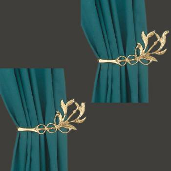 <PRE>Vintage Pair Vine Curtain Tie Back Holder Bright Brass Pack of 2</PRE>zoom2