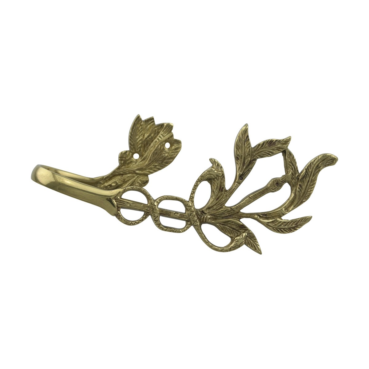 Vintage Pair Vine Curtain Tie Back Holder Bright Brass Pack of 2 Tie Back Curtain Back Tie Backs