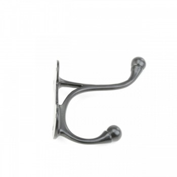 <PRE>10 Coat Hook Black Brass RSF 3 1/2inch H Double Hooks </PRE>zoom4