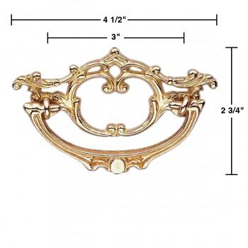 spec-<PRE>Cabinet Pull Bright Brass Arbor 4 1/2&quot; Wide </PRE>