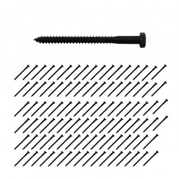 516 x 4 Lag Bolt Black Zinc Plated Pack of 100