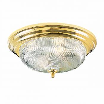 Flush Mount Ceiling Light Clear Swirl 11 1/4 in. dia. x 6 in. H