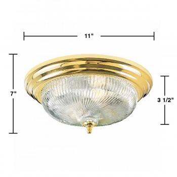spec-<PRE>Ceiling Lights Brass Flush Mount Swirl Light 11 1/4&quot;D </PRE>