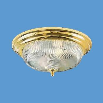 <PRE>Ceiling Lights Brass Flush Mount Swirl Light 15 1/2&quot;D </PRE>