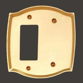 <PRE>Switch Plate Bright Solid Brass GFI Blank </PRE>zoom2