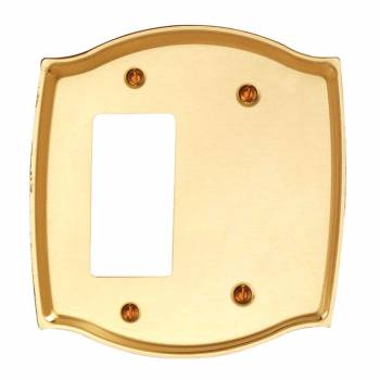 <PRE>Switch Plate Bright Solid Brass GFI Blank </PRE>zoom1