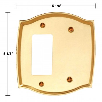 spec-<PRE>Switch Plate Bright Solid Brass GFI Blank </PRE>