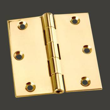 "<PRE> Door Or Cabinet Hinge Solid Brass Square 3inchx 3"" </PRE>zoom2"