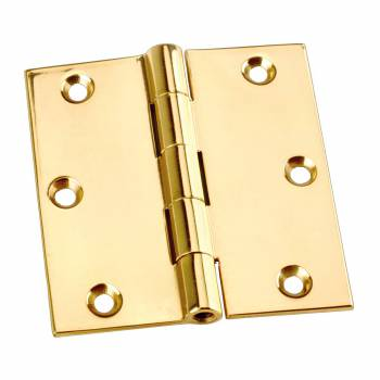 "<PRE> Door Or Cabinet Hinge Solid Brass Square 3inchx 3"" </PRE>zoom1"