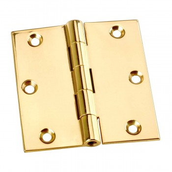 "spec-<PRE> Door Or Cabinet Hinge Solid Brass Square 3""x 3"" </PRE>"