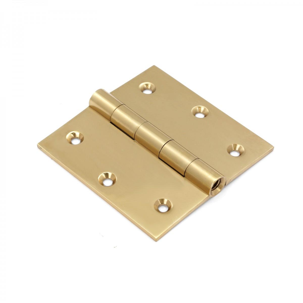 ... U003cPREu003eAntique Brass Door Hinges Bright Solid Brass Square Hinge 3.5 Inch  X 3.5 ...