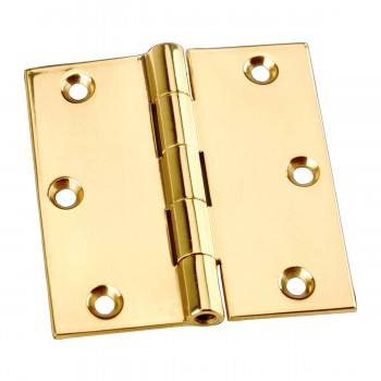 spec-<PRE>Antique Brass Door Hinges Bright Solid Brass Square Hinge 3.5 Inch x 3.5 Inch</PRE>