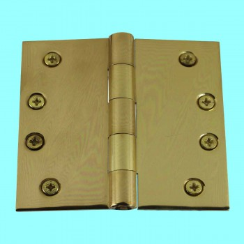 """<PRE>Door Hinges Bright Solid Brass Square Hinge 4inch x 4"""" </PRE>zoom2"""