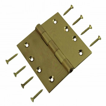 """<PRE>Door Hinges Bright Solid Brass Square Hinge 4inch x 4"""" </PRE>zoom3"""