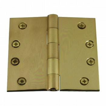 Door Hinges Bright Solid Brass Square Hinge 4