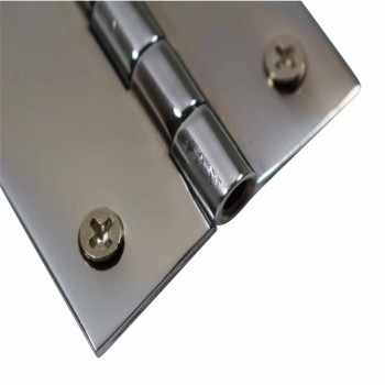 Cabinet Hinges Bright Chrome Square 2 x 2 Door Hinges Door Hinge Solid Brass Hinge