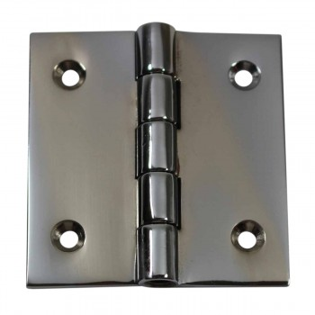 Cabinet Hinges Bright Chrome Square 2