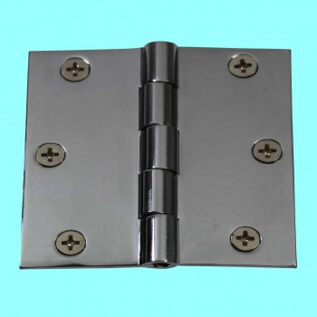 <PRE>Cabinet Hinges Chrome Solid Brass Square 3inch x 3&quot; </PRE>zoom2