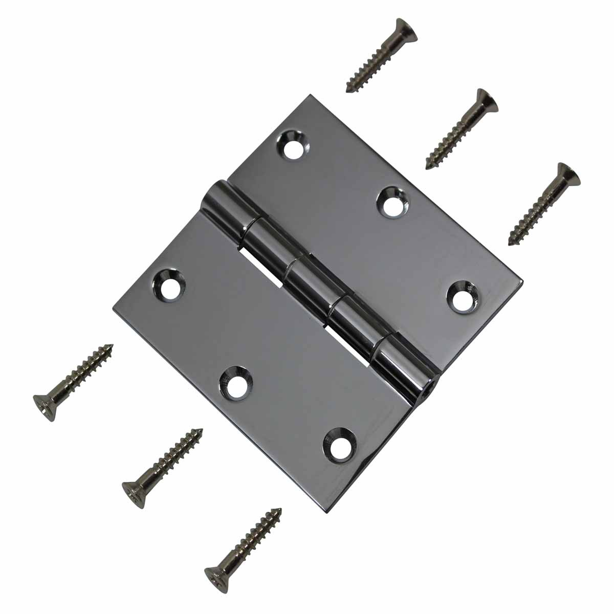 Cabinet Hinges Chrome Solid Brass Square 3 x 3 Door Hinges Door Hinge Solid Brass Hinge