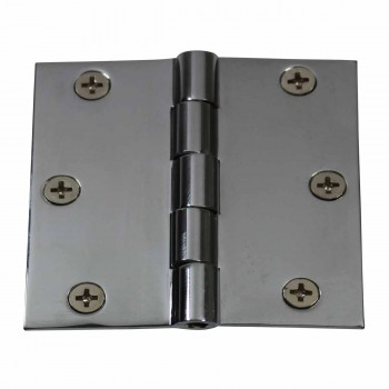 <PRE>Cabinet Hinges Chrome Solid Brass Square 3inch x 3&quot; </PRE>zoom1