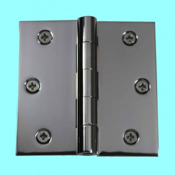 "<PRE>Door Hinges Bright Chrome Square Hinge 3.5inch x 3.5"" </PRE>zoom2"