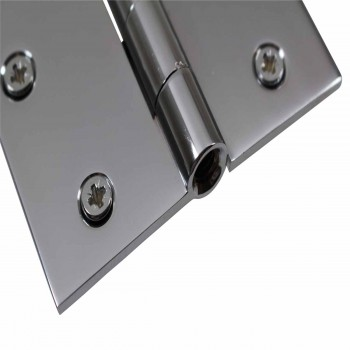 "<PRE>Door Hinges Bright Chrome Square Hinge 3.5inch x 3.5"" </PRE>zoom6"