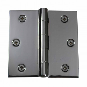 Door Hinges Bright Chrome Square Hinge 3.5