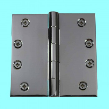 <PRE>Door Hinges Bright Chrome Square Hinge 4&quot; x 4&quot; </PRE>