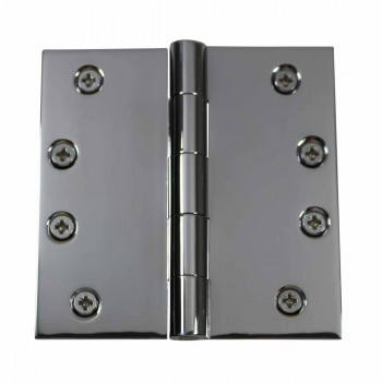 Door Hinges Bright Chrome Square Hinge 4