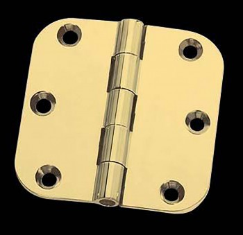 Cabinet Hinges Bright Solid Brass 2 x 2 Round Hinge Door Hinges Door Hinge Solid Brass Hinge