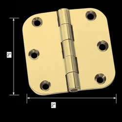 "spec-<PRE>Cabinet Hinges Bright Solid Brass 2"" x 2"" Round Hinge </PRE>"