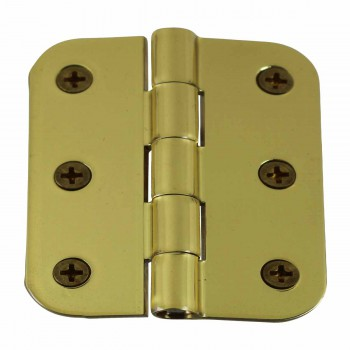 Cabinet Hinges Bright Solid Brass Square 2