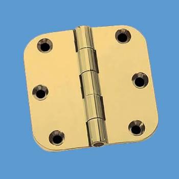 <PRE>Door Hinges Bright Solid Brass Radius Hinge 5inch x 5&quot; </PRE>zoom2