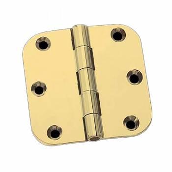 <PRE>Door Hinges Bright Solid Brass Radius Hinge 5inch x 5&quot; </PRE>zoom1
