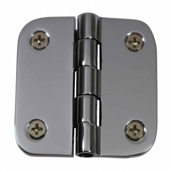 Cabinet Hinges Bright Chrome Radius 2 x 2 Door Hinges Door Hinge Solid Brass Hinge