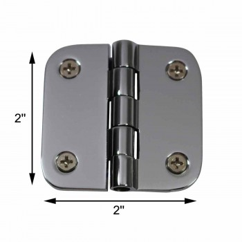 "spec-<PRE>Cabinet Hinges Bright Chrome Radius 2"" x 2"" </PRE>"