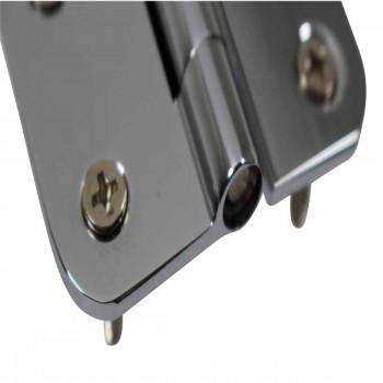 <PRE>Cabinet Hinges Bright Chrome Radius 2inch x 2.5&quot; </PRE>zoom6