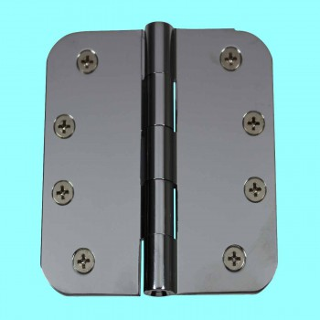 Door Hinges Bright Chrome Radius Hinge 4 x 4 Door Hinges Door Hinge Solid Brass Hinge
