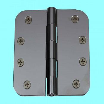 <PRE>Door Hinges Bright Chrome Radius Hinge 4inch x 4&quot; </PRE>zoom2