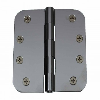 Door Hinges Bright Chrome Radius Hinge 4