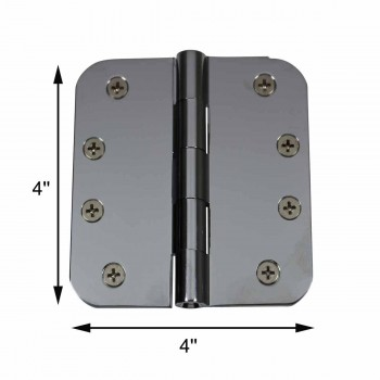 "spec-<PRE>Door Hinges Bright Chrome Radius Hinge 4"" x 4"" </PRE>"