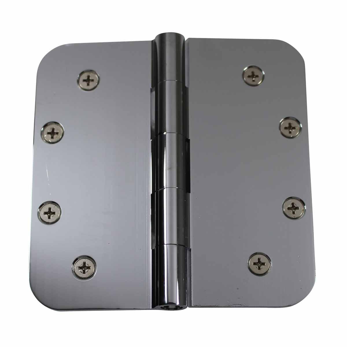 Door Hinges Bright Chrome Radius 5 x 5 Door Hinges Door Hinge Solid Brass Hinge